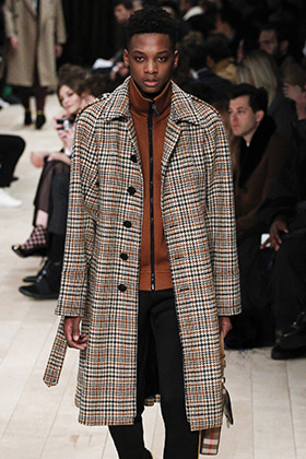B Oversized Check Single Coat