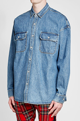 F Oversized Denim Shirts