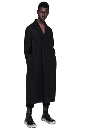 R Hidden Button LONG COAT