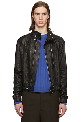 R 20SS Button Point Leather Bomber